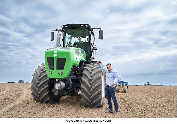 AUGA Group pushing innovation in agriculture by introducing climate-friendly tractor